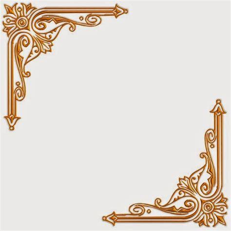 desain ornamen bunga beberapa contoh desain bingkai undangan pernikahan