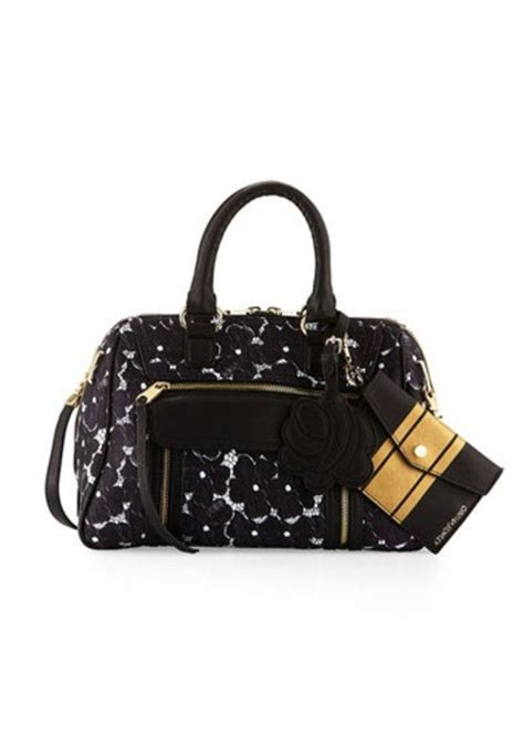 Cynthia Rowleys Leather Tote From Neiman by Cynthia Rowley Cynthia Rowley Reece Lace Print Leather