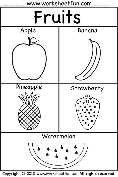 coloring pages fruits preschool fruits school prep pinterest worksheets free