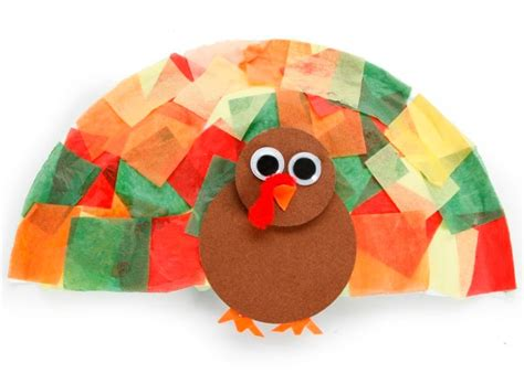 Tissue Paper Turkey Craft - tissue paper turkey craft ideas