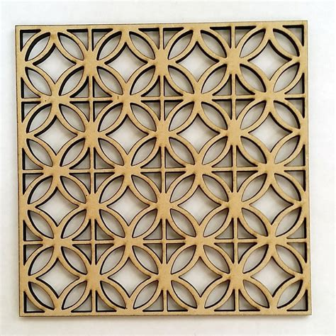 geometric pattern laser cut circle diamond geometric pattern contemporary mdf wood