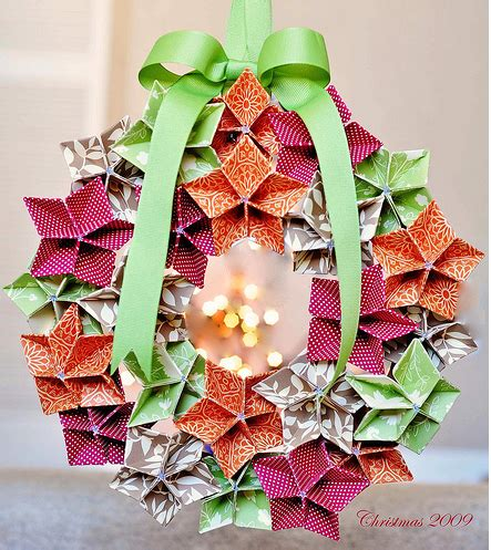 Origami Reef - origami maniacs origami flowers to make a wreath