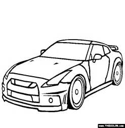 How To Draw A Nissan Gtr Nissan Gtr Coloring Page Free Nissan Gtr