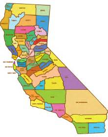 map of california with counties california counties