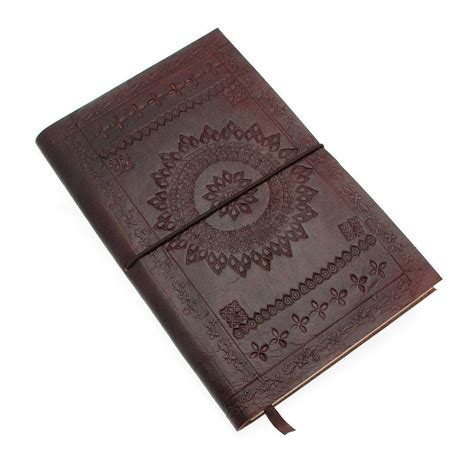 Handcrafted Notebooks - handmade chocolate embossed leather notebook by paper high