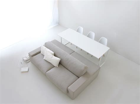 Gray double sided sofa   Interior Design Ideas.