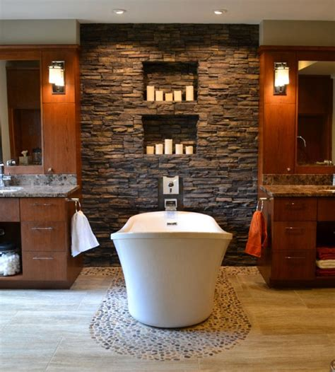 Stone Bathroom Wall » New Home Design