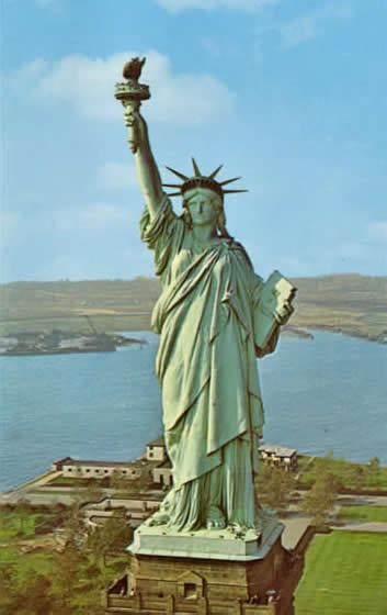 what color is the statue of liberty education statue of liberty reclothing the of