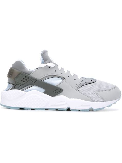 nike grey sneakers lyst nike huarache sneakers in gray for