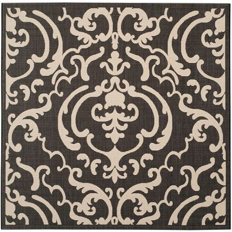 7 X 10 Outdoor Rug Safavieh Courtyard Black Sand Black Brown 7 Ft 10 In X 7 Ft 10 In Indoor Outdoor Square