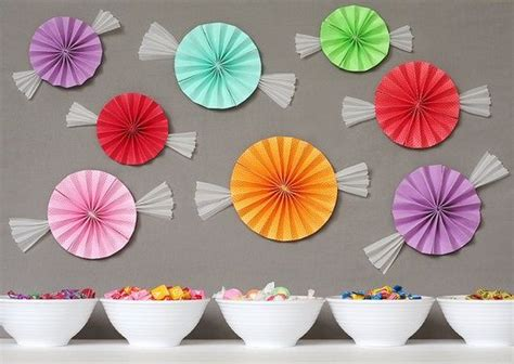 candyland crafts for sweet paper fan candies for candyland decorations