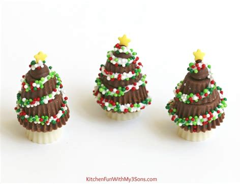 peanut butter cup christmas trees kitchen fun with my 3 sons