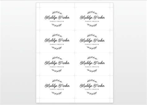 Wedding Place Cards Design Your Own by Free Place Card Template Word The Best Resume