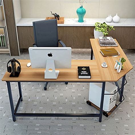 tribesigns modern l shaped desk tribesigns modern l shaped desk corner computer desk pc