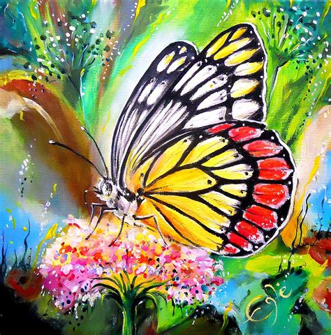 Butterfly Dreams butterfly painting by egle wierenga