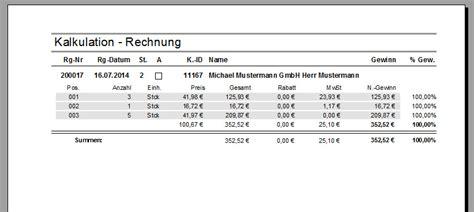 Musterrechnung Mit Nachlass Rechnungen Erstellen Faktura Xp Warenwirtschaft Handbuch Und Wiki