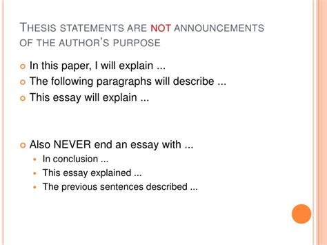 what is the purpose of a dissertation what a thesis statement is and what it isn t