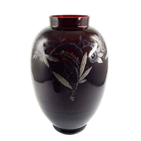 Large Glass Vase With Lid Bayerischer Wald Vase Lid Vase Bavarian Forest Emmy