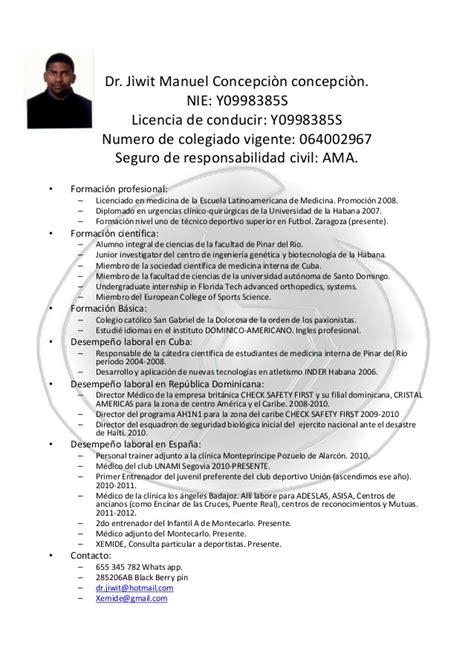 Modelo De Curriculum Vitae Con Licencia De Conducir Curriculum Vitae Version 1
