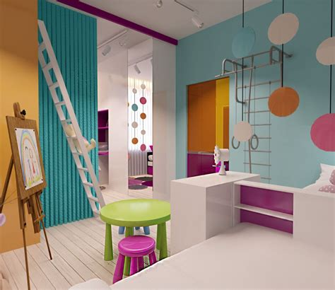 modern kids room creative apartment designs perfect for young families