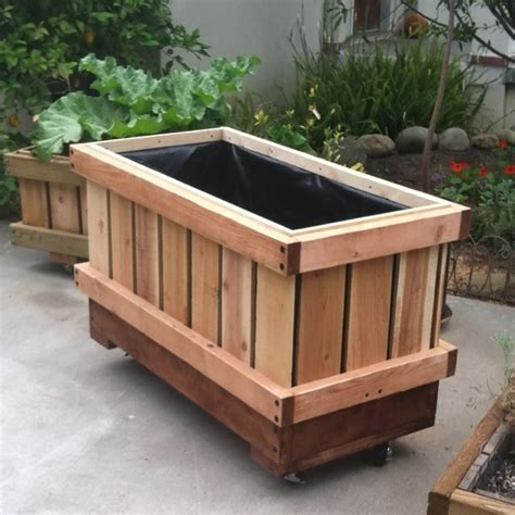 19 Best Planter Boxes Images On Pinterest Planters On Wheels