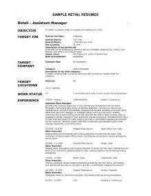 resume objective samples for retail sample retail resumes