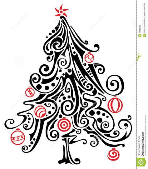 stilisierter weihnachtsbaum albero di natale stilizzato fotografia stock libera da