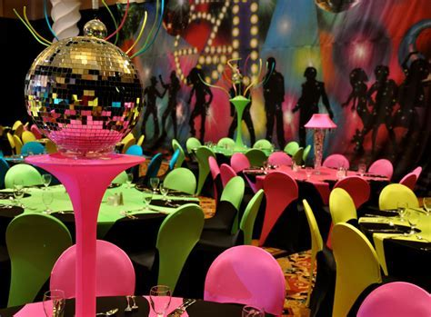 disco themed decor~   ?wedding & event designs