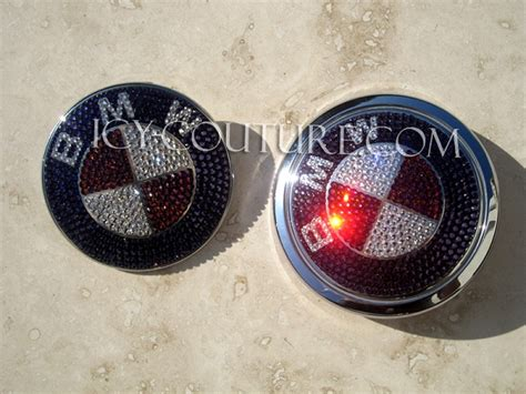 pink bmw emblem custom bmw emblems with swarovski crystals gold pink