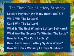 How To Win A Http Winlottery Bestinfobooks Lottery How To Win