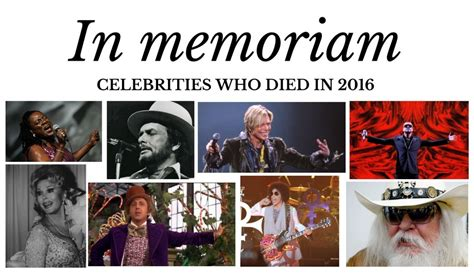 celebrities who died has 2016 how many actors died this year 2016