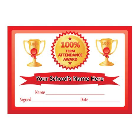 100 attendance certificate template search results for 100 attendance certificate calendar