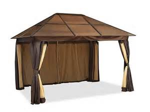 Gazebo With Netting And Privacy Panels by 4856659 Gazebos Outdoor Decor And Outdoor Accessories