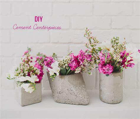 Diy Wedding Vases by Diy Cement Centerpieces Green Wedding Shoes Weddings