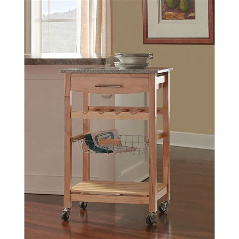 kitchen island cart with granite top home decorators collection 22 in w granite top kitchen