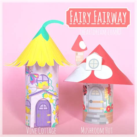 printable fairy house fairy house toilet tube craft printables