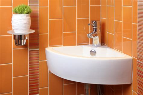 orange bathrooms photos hgtv