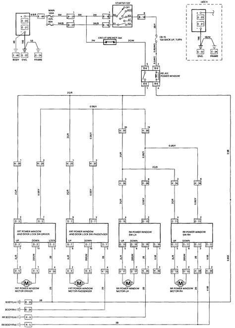 Power Window Master Switch Harness Wiring Diagram