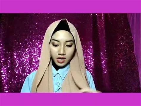 tutorial hijab pashmina untuk wajah bulat youtube tutorial hijab simpel untuk wajah bulat menggunakan
