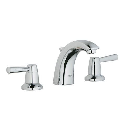 grohe bathroom sink faucets grohe 20375000 arden starlight chrome 2 handle widespread