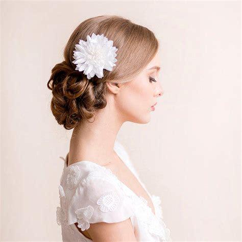 wedding hair flowers silk bridal hair flower dahlia bridal silk from florentes