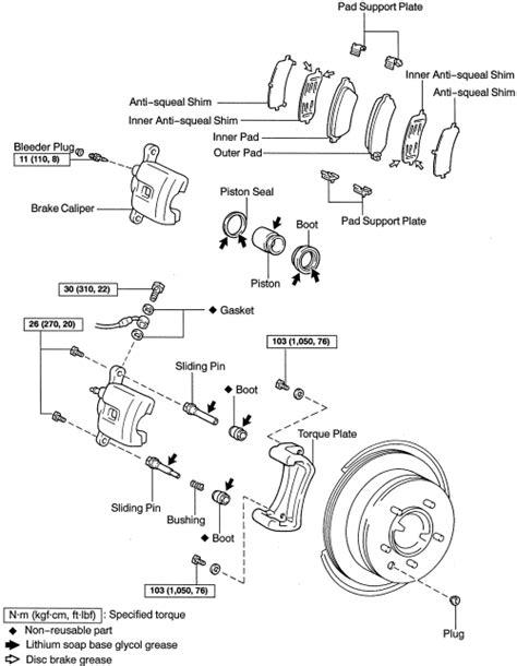 security system 2001 toyota land cruiser spare parts catalogs repair guides rear disc brakes brake caliper autozone com