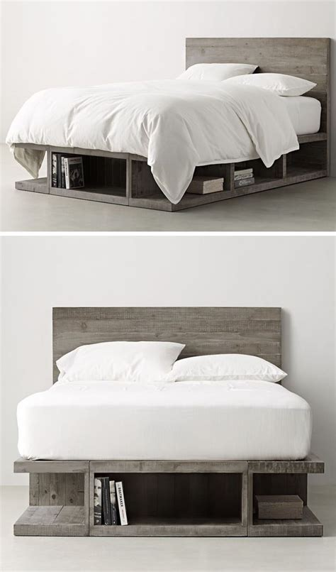 ideas    bed storage  grey finish