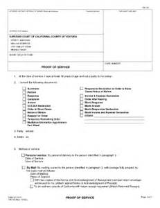 proof of service template proof of service by mail california form vn120 fill