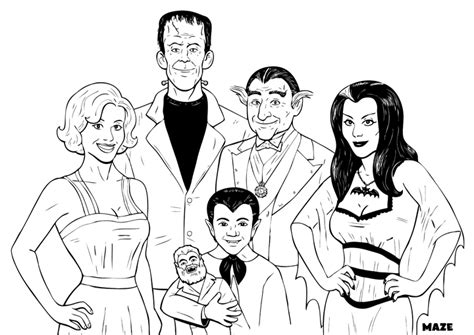 The Munsters Coloring Pages