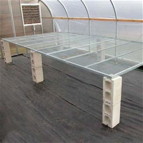 benches greenhouse ez grow continuous greenhouse bench tops growers supply