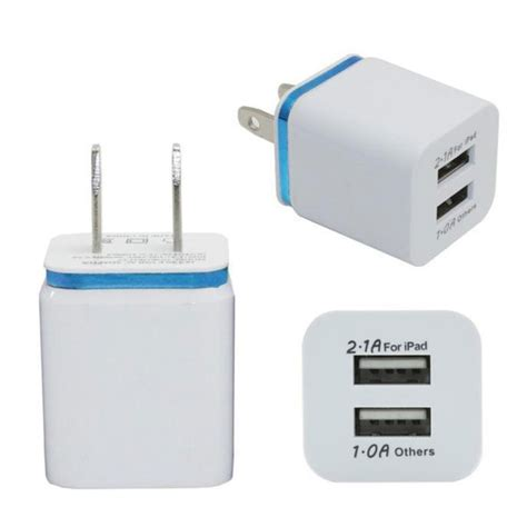 universal travel 5v 2 1a 2port usb ac wall home charger