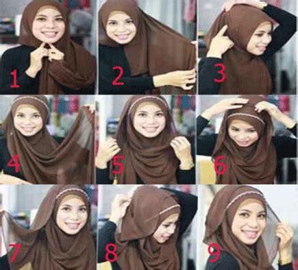 tutorial hijab pesta dengan headband cara praktis memakai jilbab dengan hiasan headband