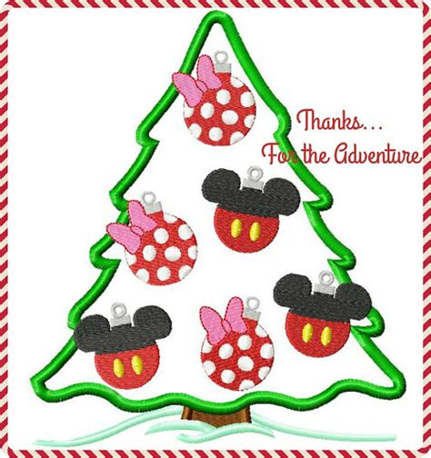 mickey and minnie mouse christmas tree ornament digital