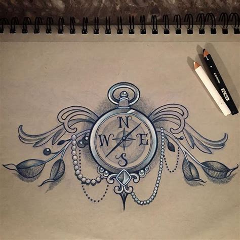 compass tattoo drawing on instagram